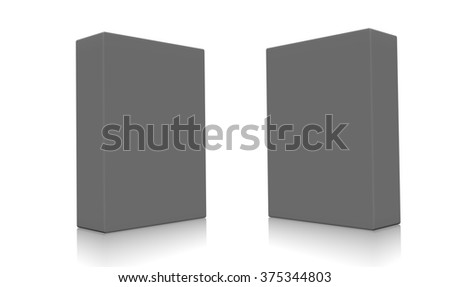 Concept of some gray boxes isolated on a white background.