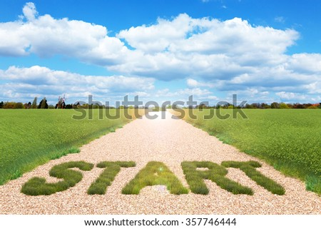 Concept of start for business 3d render - stock photo
