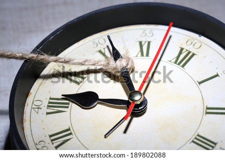 Concept of stopping time  - stock photo
