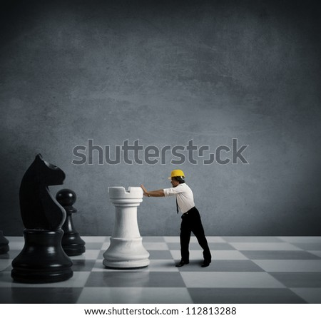 Concept of strategy in business - stock photo