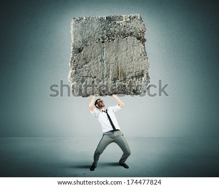 Concept of Stress and hard career a businessman - stock photo