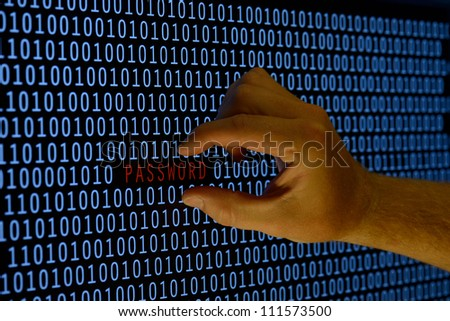 concept of taking security password - stock photo