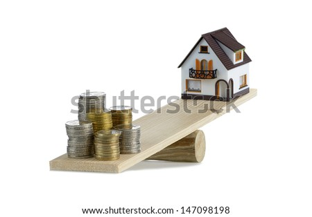concept of the cost of a home - stock photo