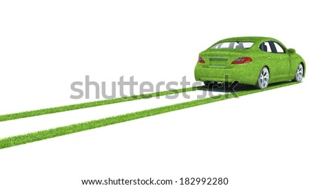 Concept of the eco-friendly car  - stock photo