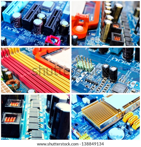 Concept of the motherboard - stock photo