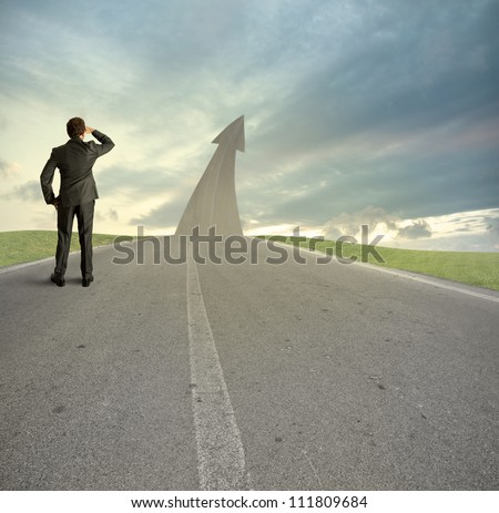 Concept of the road to success - stock photo