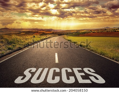 Concept of the road to success and better future.  - stock photo