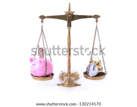 concept of time and money - stock photo