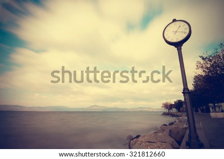 Concept of time passing - stock photo