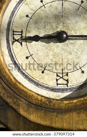 concept of time with the detail of an old clock