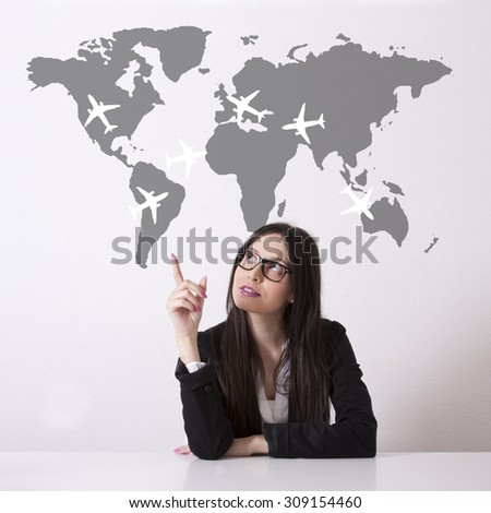 concept of tourism and business - stock photo