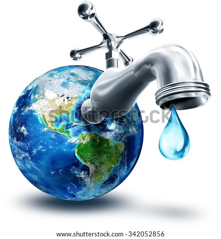 Concept Water Conservation America Usa Elements Stock
