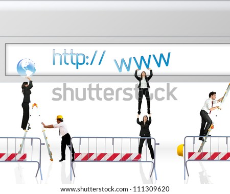 Concept of website under construction - stock photo