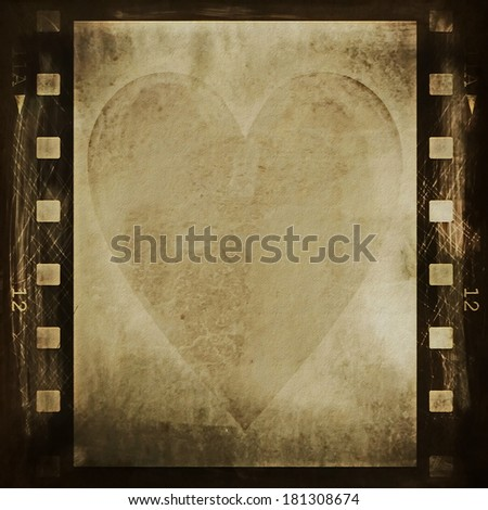 concept old grunge film strip background