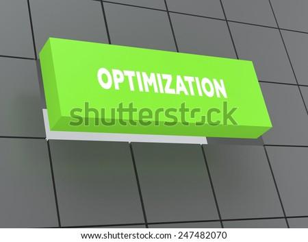 Concept OPTIMIZATION - stock photo