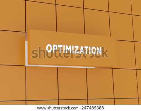 Concept OPTIMIZATION - stock photo