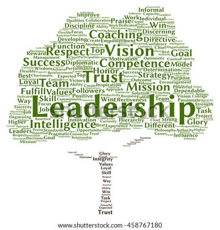 Concept or conceptual business leadership or management tree word cloud isolated on background - stock photo