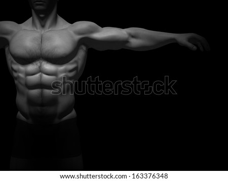 Concept or conceptual 3D strong young male man bodybuilder isolated on black background,metaphor to sport,athlete,fitness,health,fit,handsome,sexy,strength,power,attractive,bodybuilding,gym,macho,diet