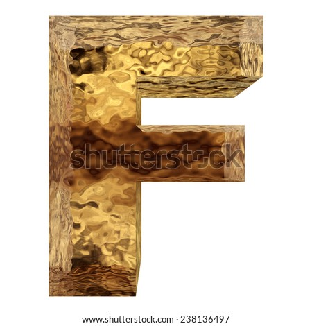 Concept or conceptual 3D yellow shiny gold golden metal font isolated on white background