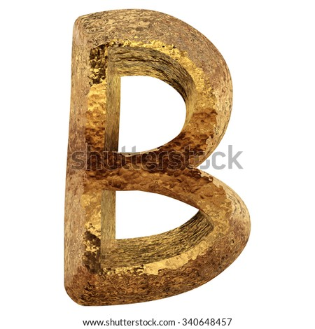 Concept or conceptual 3D yellow shiny gold golden metal font part of a set collection isolated on background, metaphor to luxury, rich, money, decoration, expensive, modern, art, retro, vintage design