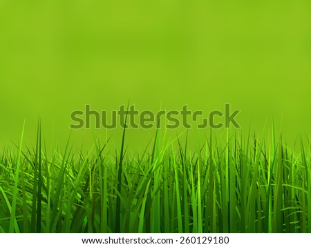 Concept or conceptual green, fresh and natural 3d grass field or lawn on green background in spring or summer metaphor to nature, environment, sport, soccer, golf, agriculture, eco or garden designs - stock photo
