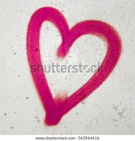 Concept Conceptual Painted Red Abstract Heart Stock Photo Royalty
