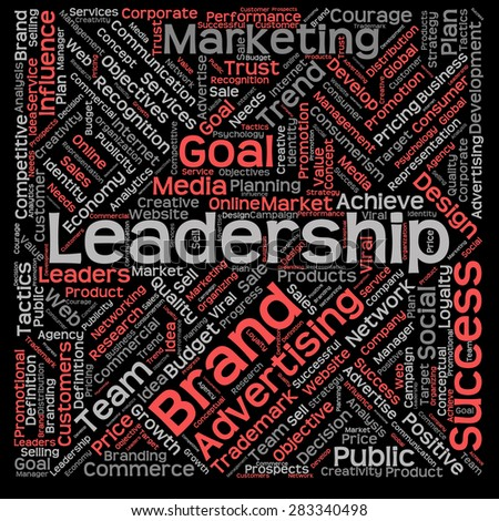 Concept or conceptual text word cloud isolated on black background, metaphor to advertising, business, company, growth, corporate, identity, innovation, media, management, market, sale or trend value - stock photo