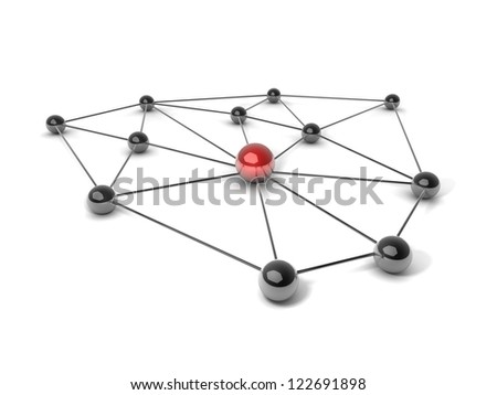 Concept or Metaphor of communication - stock photo
