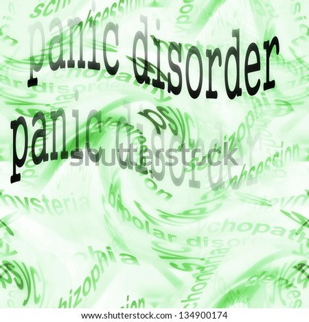 concept panic disorder background - stock photo