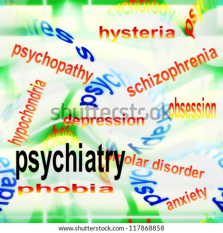 concept psychiatry background - stock photo