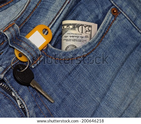 Concept - purchase of apartment, close-up - stock photo