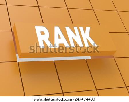 Concept RANK - stock photo