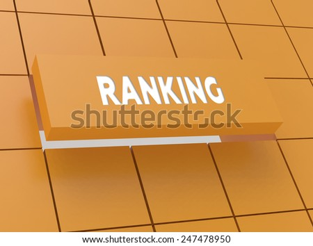Concept RANKING - stock photo