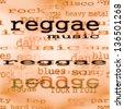 concept reggae music word background, texture - stock vector