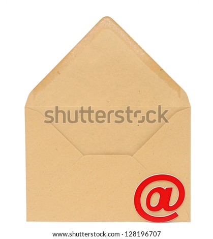 Concept representing email, envelope