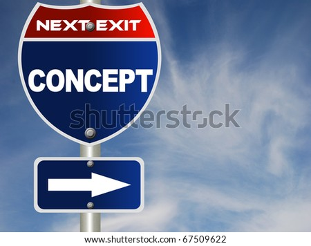Concept road sign