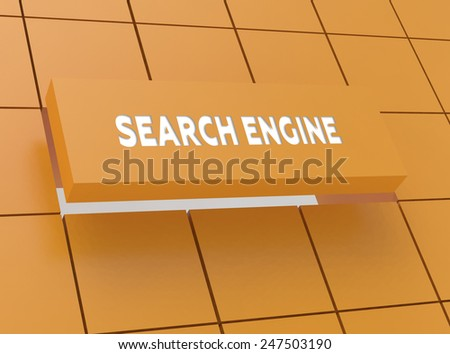 Concept SEARCH ENGINE - stock photo