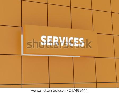 Concept SERVICES - stock photo
