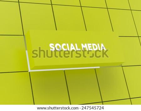 Concept SOCIAL MEDIA - stock photo