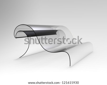 Concept sofa shaped as a wave - stock photo