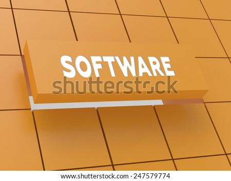 Concept SOFTWARE - stock photo