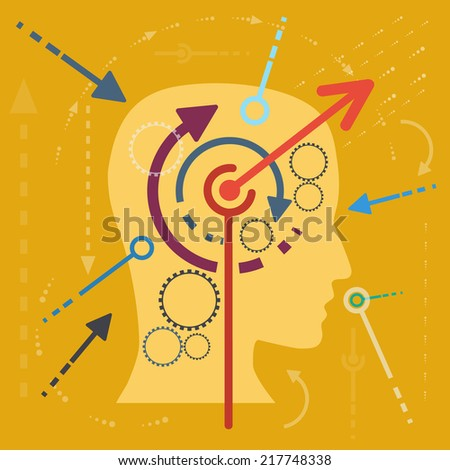 Concept stimulate the mind, flat design - stock photo