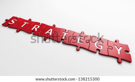 concept strategy - stock photo