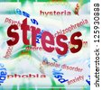 Concept stress abstract - stock photo