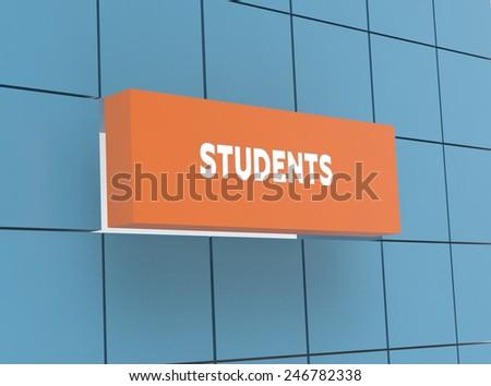 Concept STUDENTS - stock photo