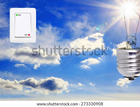 concept symbolizing the solar energy