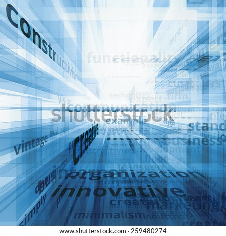 Concept text communication. Innovation model - stock photo