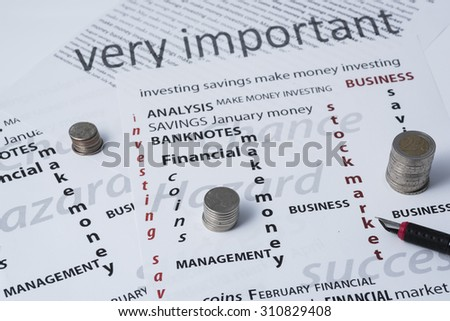 concept to look for the best stock market investment Through Calculations and Histograms - stock photo