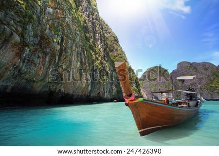 Concept travel Tropical beach, Thailand - stock photo