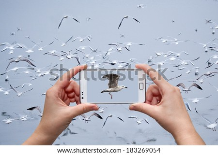 concept using modern technology - stock photo